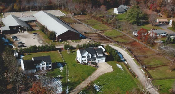 aerial photo of Rising Star Equestrian Center